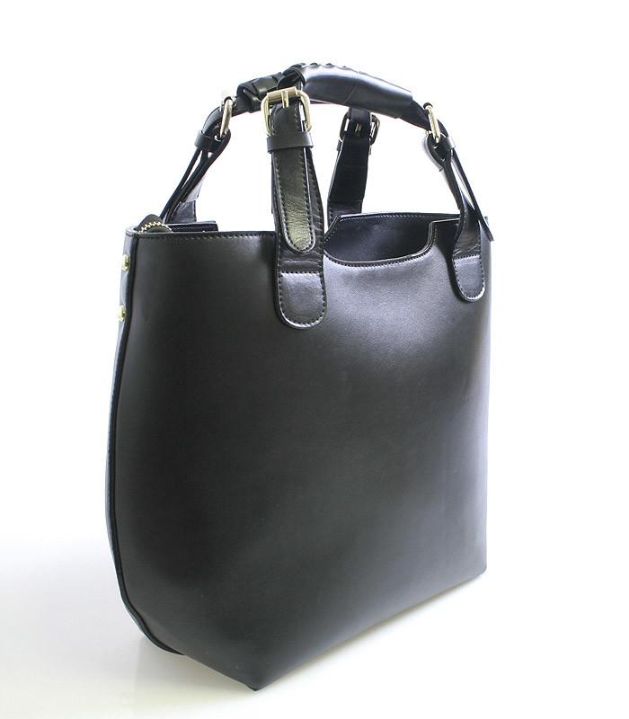 e76b4df345 Černá kožená kabelka shopperbag Nucelle Jola - Kabea.cz