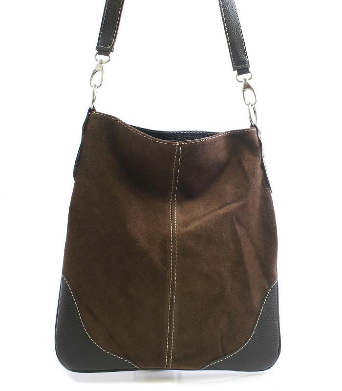 Hnedá kožená crossbody kabelka ItalY 10062 - Kabea.cz 1def3467158