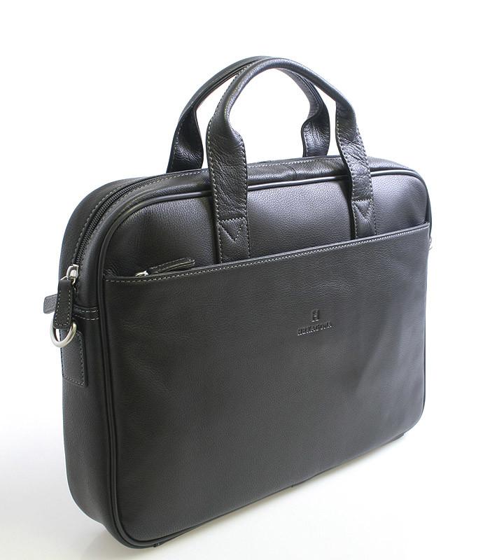 fd8f455b4f Čierna kožená taška Hexagona 62544 - Kabea.cz