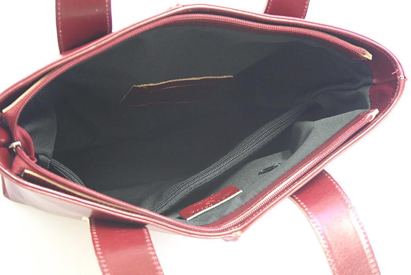 Červená kožená kabelka cez rameno ItalY Sabrina - Kabea.cz b6482205f3e