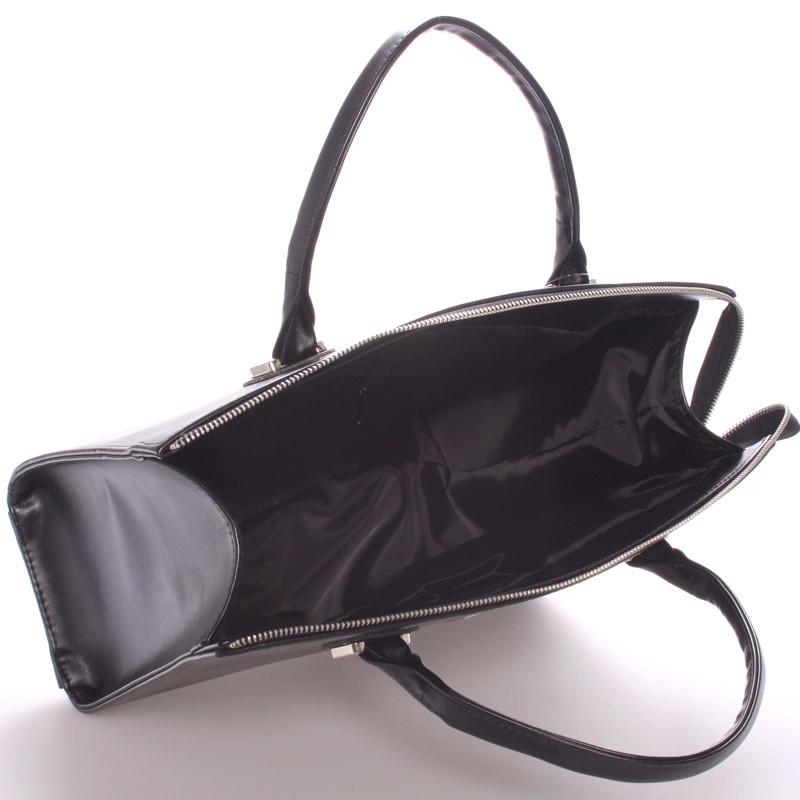 Dámska luxusná kabelka čierna matná - Maggio Florida - Kabea.cz a6c6ae96b30