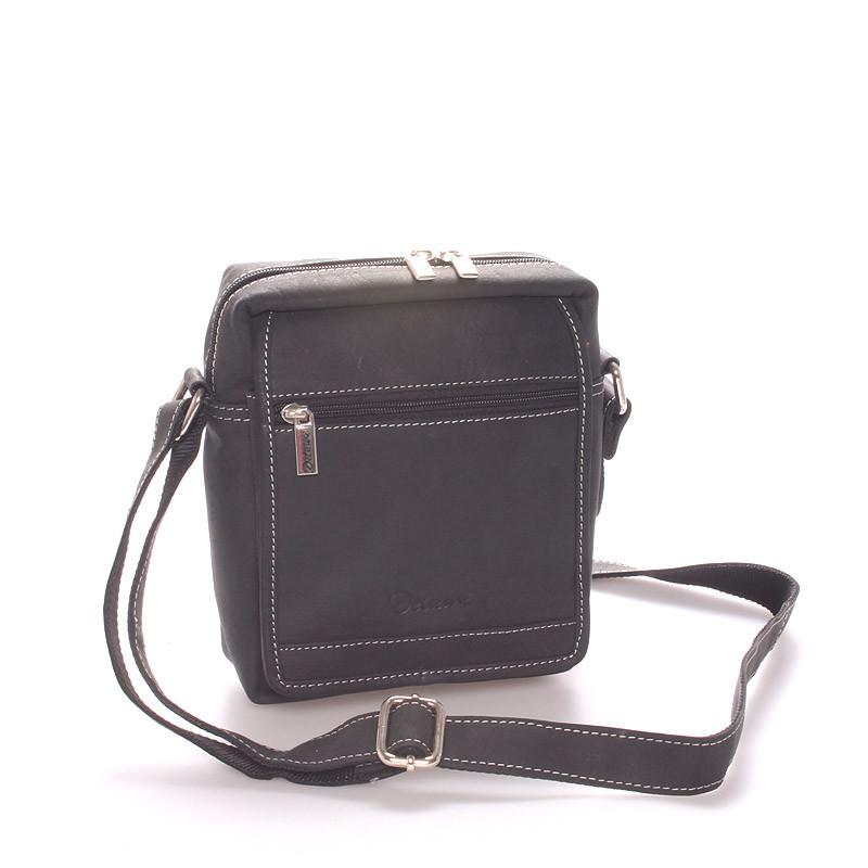 2d4adec074 Pánska kožená taška čierna - Delami Gilberto - Kabea.cz