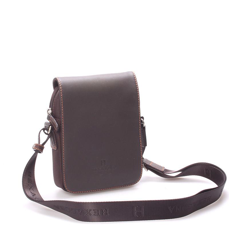 9ece6d4191 Luxusná pánska kožená kabelka cez plece hnedá - Hexagona Filippo ...