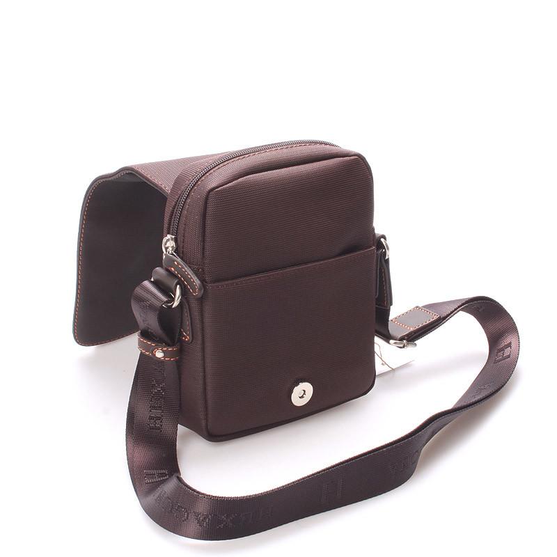 ... Luxusná pánska kožená kabelka cez plece hnedá - Hexagona Filippo ... 3968b421293