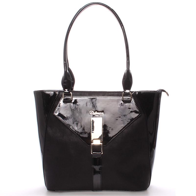 4143c7608f Dámska luxusná kabelka cez rameno čierna - Delami Albina - Kabea.cz