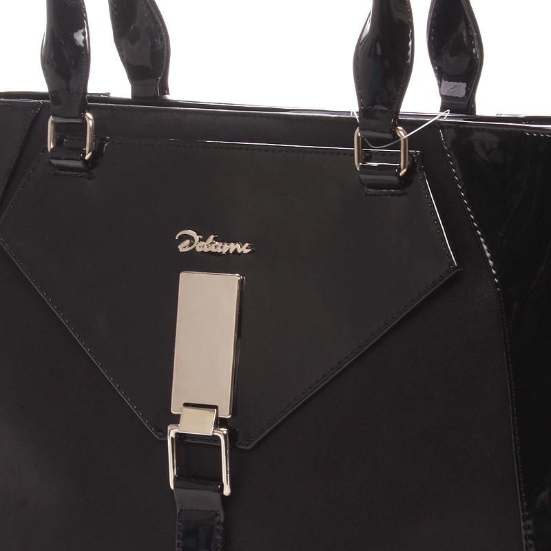 60ab772eecc1 Dámska luxusná kabelka cez rameno čierna - Delami Albina - Kabea.cz