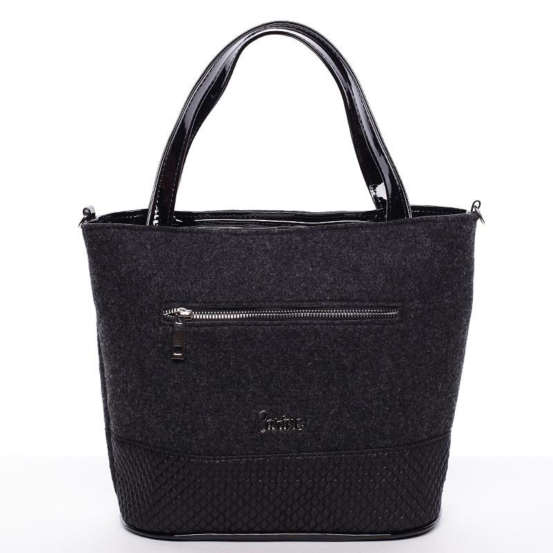 Dámska filcová kabelka čierna - Carine Danielle - Kabea.cz ff404941f11