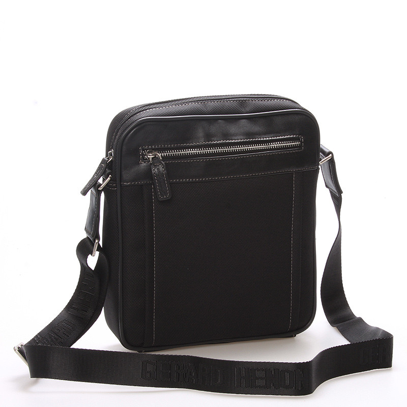 d4b72fac7f Pánska taška cez rameno na doklady čierna - Gerard HENON Jacques ...