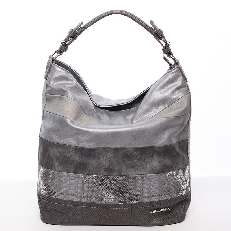 Dámska veľká kabelka cez rameno šedá - David Jones Faunia - Kabea.cz 3720f636047
