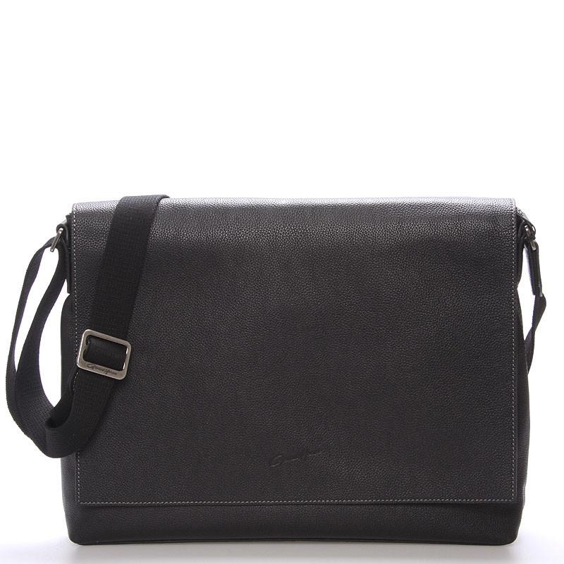da2bfe2653 Pánska elegantná taška cez rameno čierna - Gerard HENON Robbi - Kabea.cz