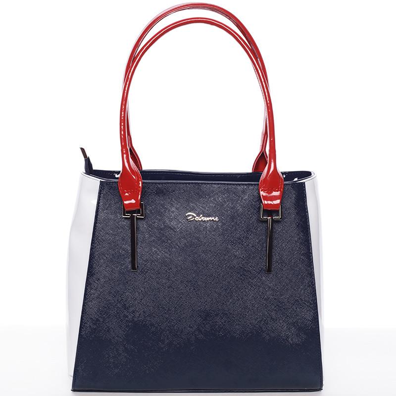 9996fcd01d0d Trendy kabelka cez plece modro červeno biela - Delami Aceline - Kabea.cz