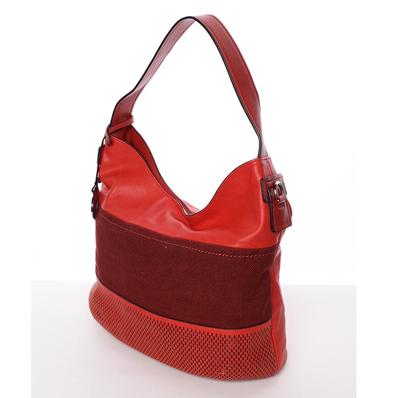 a8c7e2a5a7 Trendy dámska kabelka cez plece červená - MARIA C Fleur - Kabea.cz
