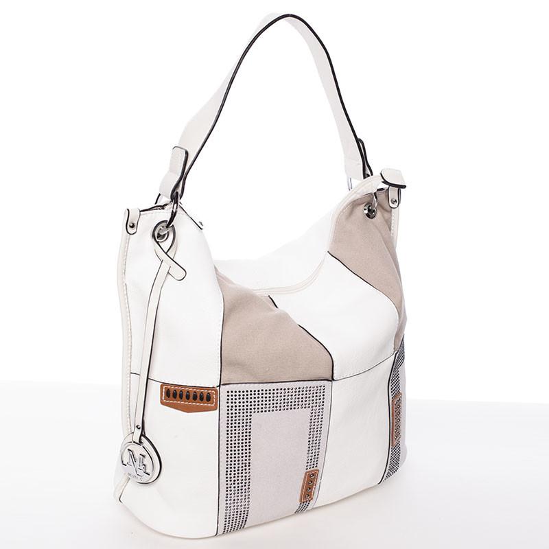 Štýlová dámska kabelka cez rameno biela - MARIA C Laverne - Kabea.cz fff83561798