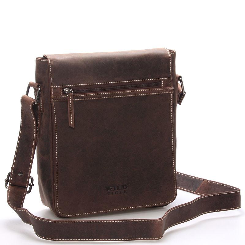 Luxusná pánska kožená taška cez rameno hnedá - WILD Bayley - Kabea.cz 1a58bd8033c