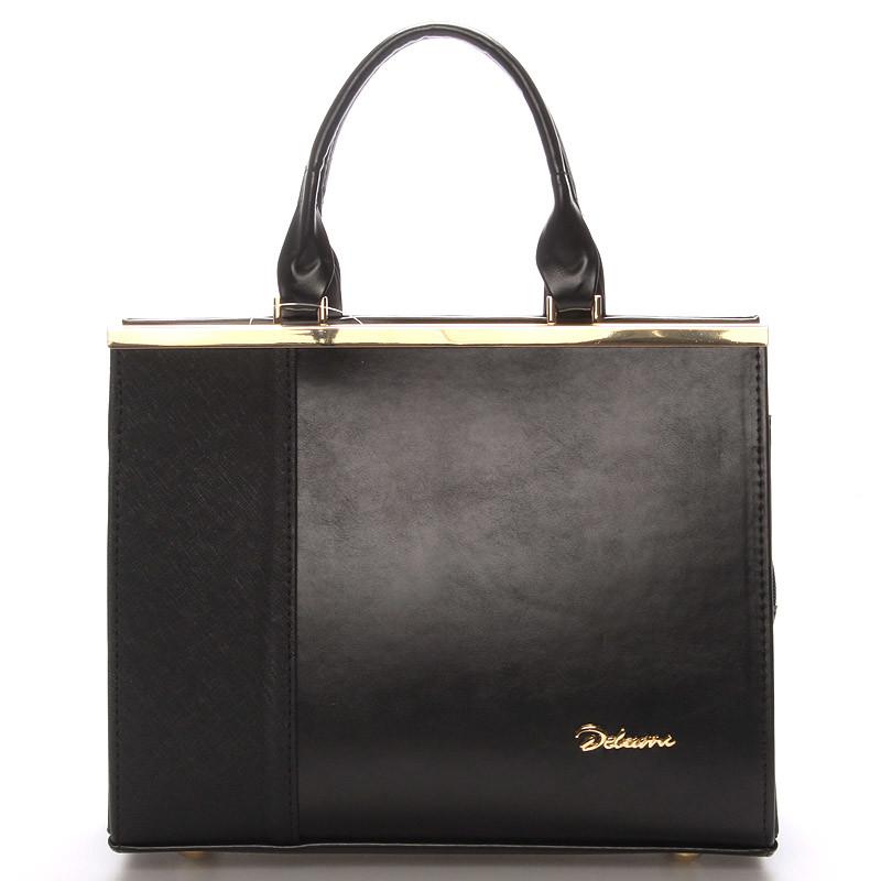 Elegantná dámska kabelka do ruky čierna - Delami deliť - Kabea.cz 489d3fd4057