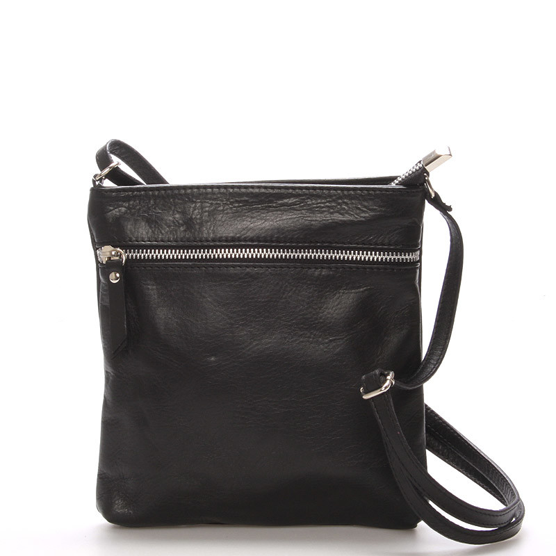 Dámska menšie čierna kožená kabelka cez rameno - ItalY Slania - Kabea.cz 6c032179c52