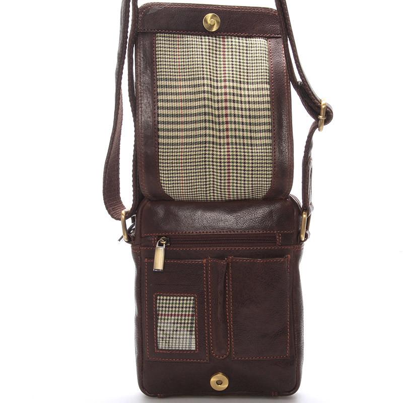 ... Pánska kožená taška na doklady cez rameno hnedá - Sendi Design Dumont  ... 5d4029f35c1