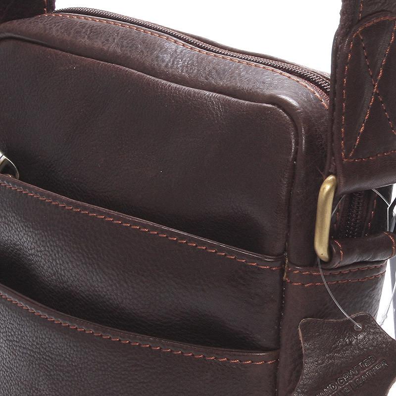 ... Módna pánska kožená taška na doklady cez rameno hnedá - SendiDesign  Lamar ... 1f73e8a7f07