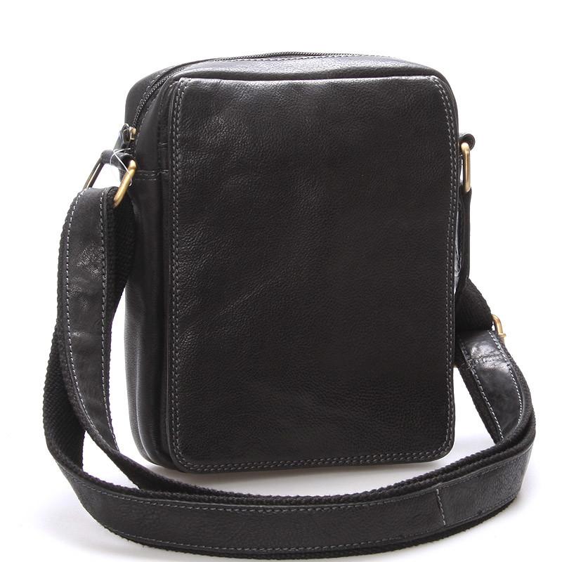 Pánska kožená taška na doklady cez rameno čierna - SendiDesign Didier ... d742ed7acb