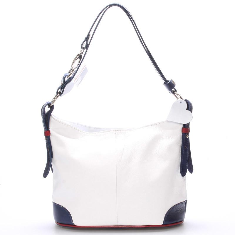 8189797eb3 Biela kožená kabelka cez plece crossbody ItalY Harmony - Kabea.cz