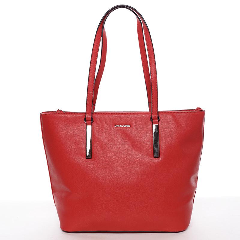 1c3d85970e Dámska červená kabelka cez rameno - David Jones Hae - Kabea.cz