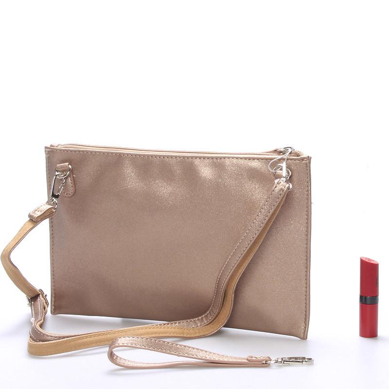 6e21470c60 ... Štýlová dámska crossbody listová kabelka zlatá - David Jones Effulgence  ...