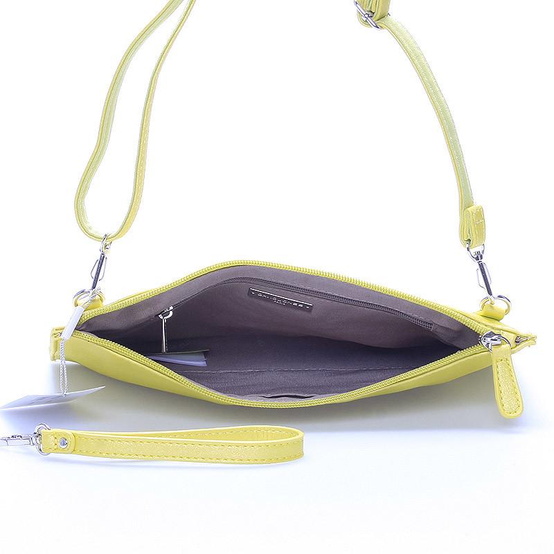 a1492b7bca ... Štýlová dámska crossbody listová kabelka žltá - David Jones Effulgence