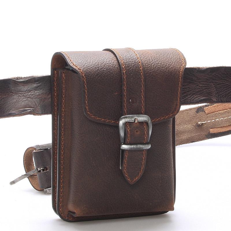 5d86902940ace Pánska hnedá kožená taška na opasok - Greis Gerr - Kabea.cz