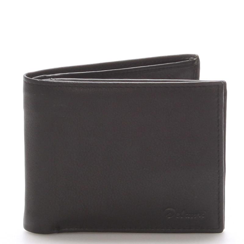 ba6dc83c86 Pánska kožená peňaženka čierna - Delami Five - Kabea.cz