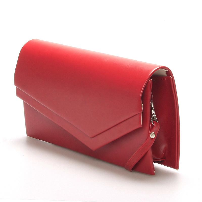 5b67aa286d ... Originálna dámska listová kabelka červená matná - Delami Phoenix ...