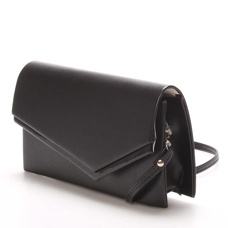 d0dc615719 ... Originálna dámska listová kabelka čierna matná - Delami Phoenix ...