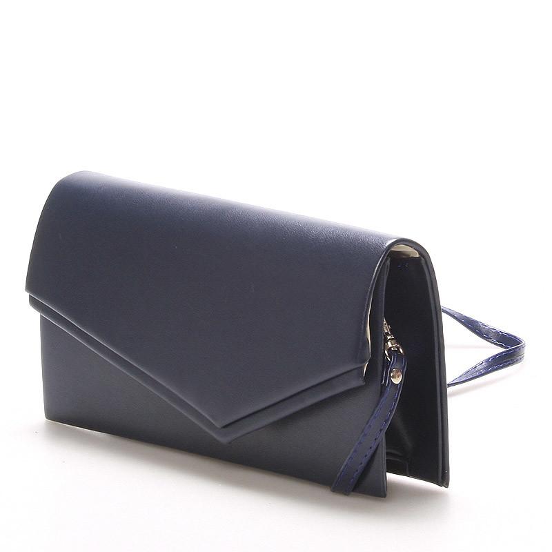 a026310e64 ... Originálna dámska listová kabelka tmavomodrá matná - Delami Phoenix ...