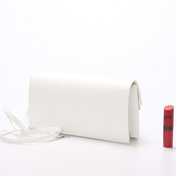 5ace1035b6 ... Originálna dámska listová kabelka biela matná - Delami Phoenix ...