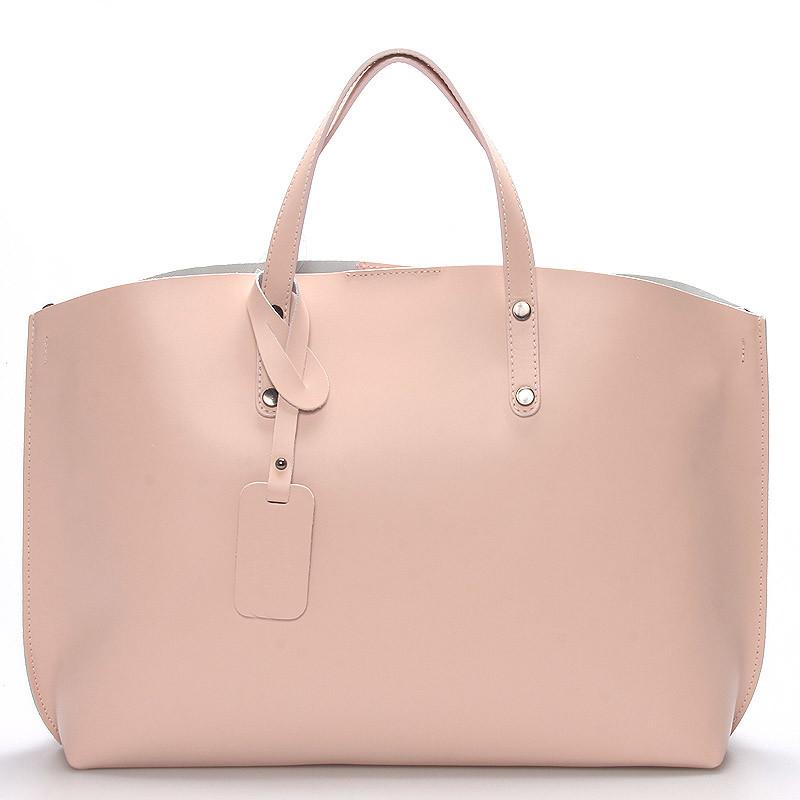 0ec997cb23 Dámska kožená kabelka ružová - ItalY Jordana - Kabea.cz