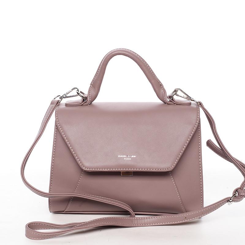 997fb99dcf Elegantná dámska kabelka do ruky tmavoružová - David Jones Sukaw ...