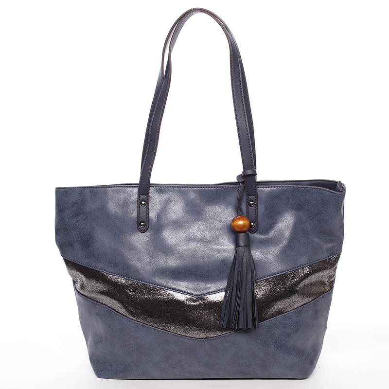 5a5484c33a Veľká módne trendy kabelka cez rameno tmavomodrá - David Jones Chetona ...