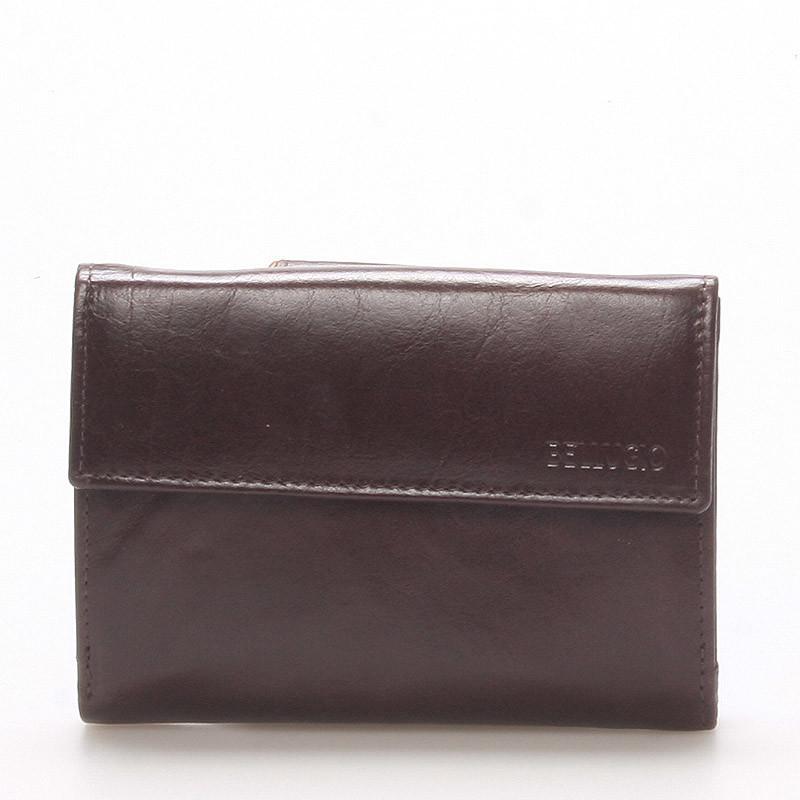 e3d6fdbe97 Dámska kožená peňaženka čokoládovo hnedá - BELLUGIO Bonnie - Kabea.cz