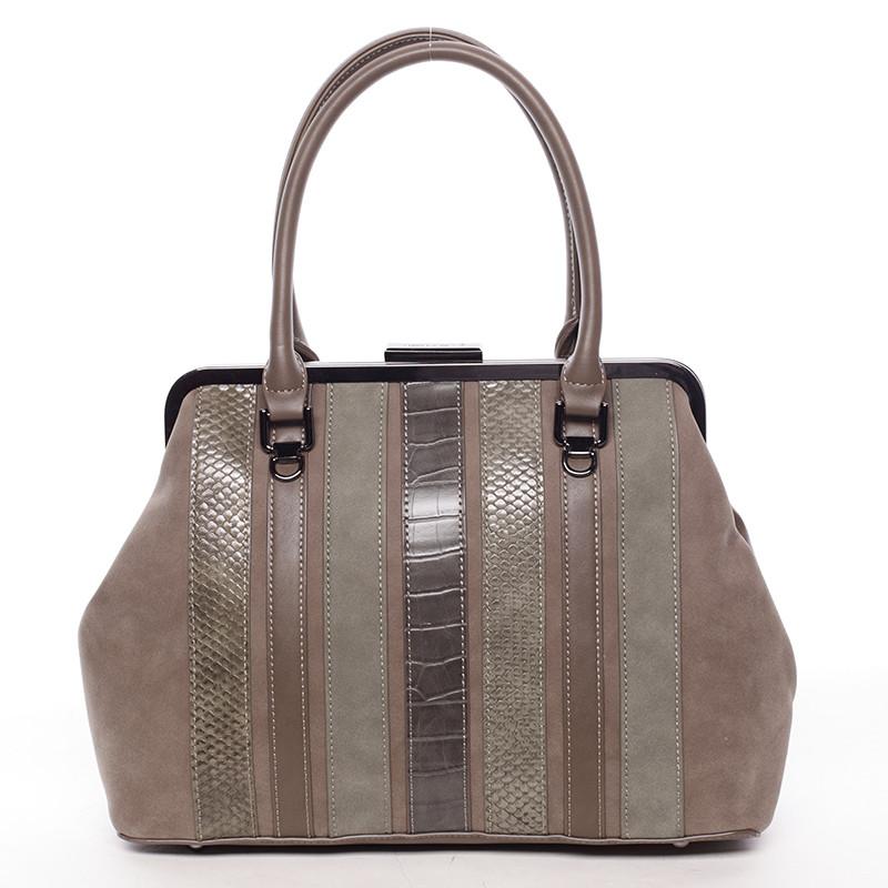 ae5c5fa49283 Luxusná tmavá khaki dámska kabelka do ruky - David Jones Jannas ...