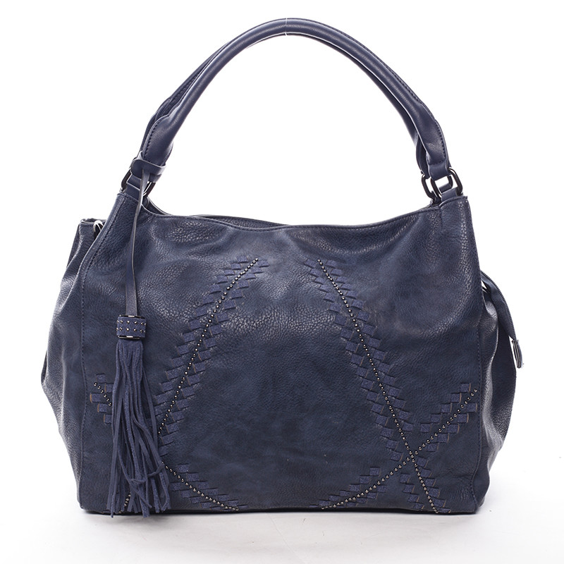 4f794ef8fc Tmavo modrá dámska kabelka s originálnym vzorom - MARIA C Glauce ...