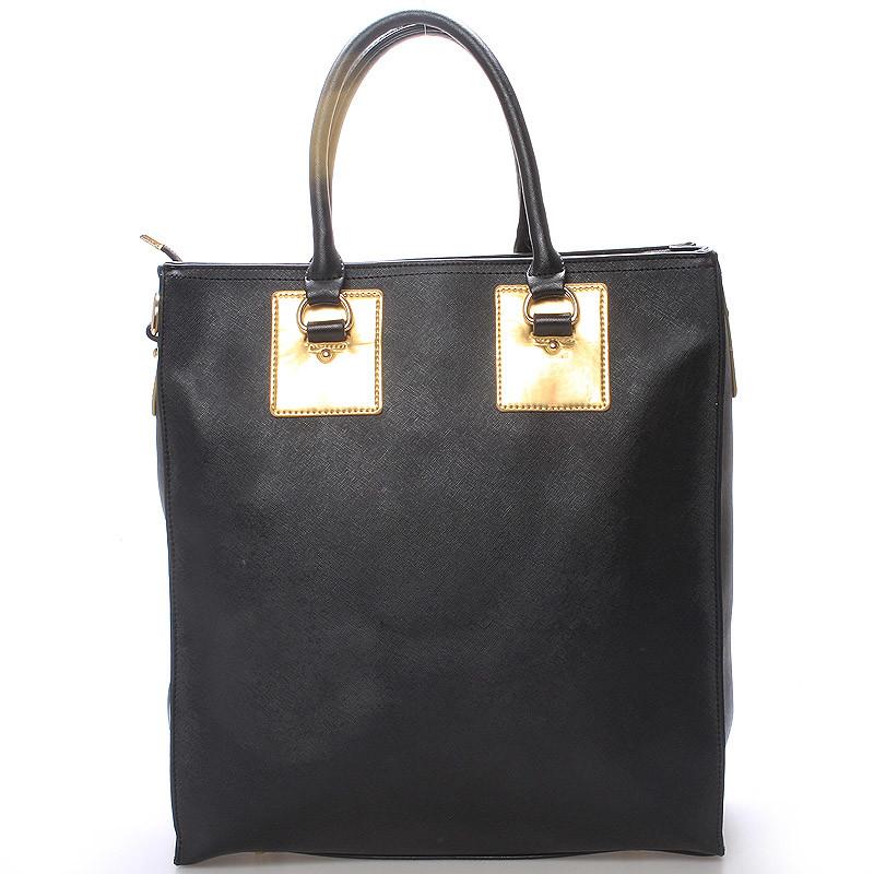 a8846355cf Dámska veľká módna kabelka do ruky čierna - LS fashion Giada - Kabea.cz