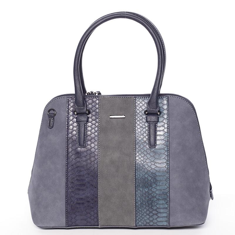 9375cc864e41 Luxusná tmavomodrá dámska kabelka do ruky - David Jones Gaia - Kabea.cz