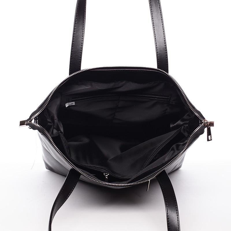 3ebbbf64fc Vysoká dámska elegantná kabelka cez rameno čierna - Delami Ilithya ...