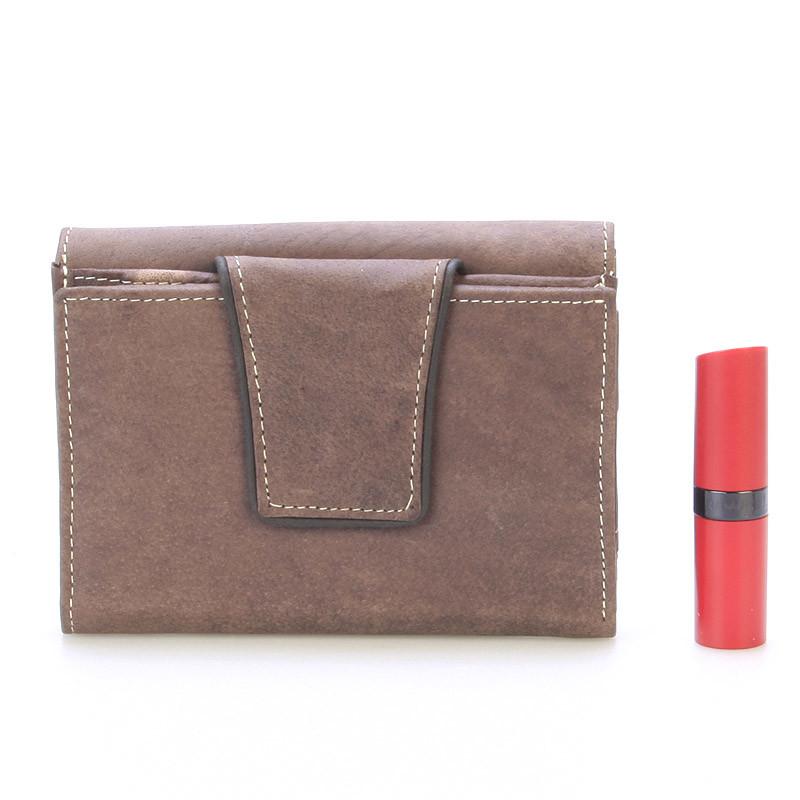 a2268c38a Moderná väčšia kožená peňaženka tmavo hnedá - WILD Hades - Kabea.cz