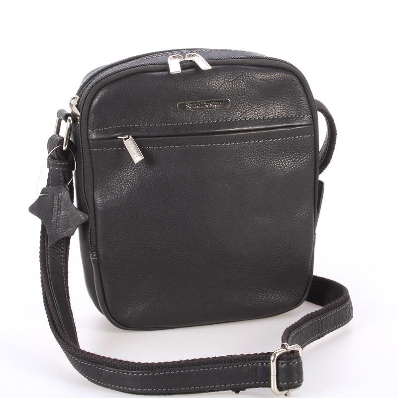 84ce97b10b Čierna pánska štýlová kožená taška - Sendi Design Heracles - Kabea.cz