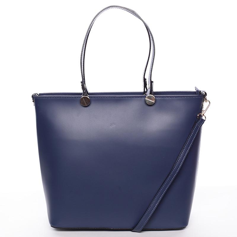 Dámska kožená kabelka tmavo modrá - ItalY Elza - Kabea.cz bab73f12a6a