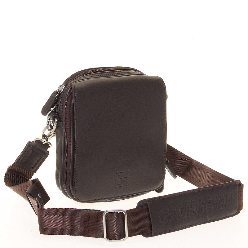 3d151feaf9 Pánska taška cez rameno na doklady hnedá - Gerard Henon Delrico ...