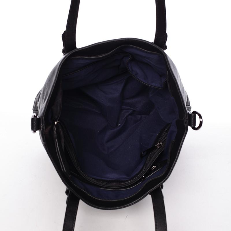 562f9884f341 Luxusne štýlová dámska čierna kabelka cez plece - Maria C Eustacia ...