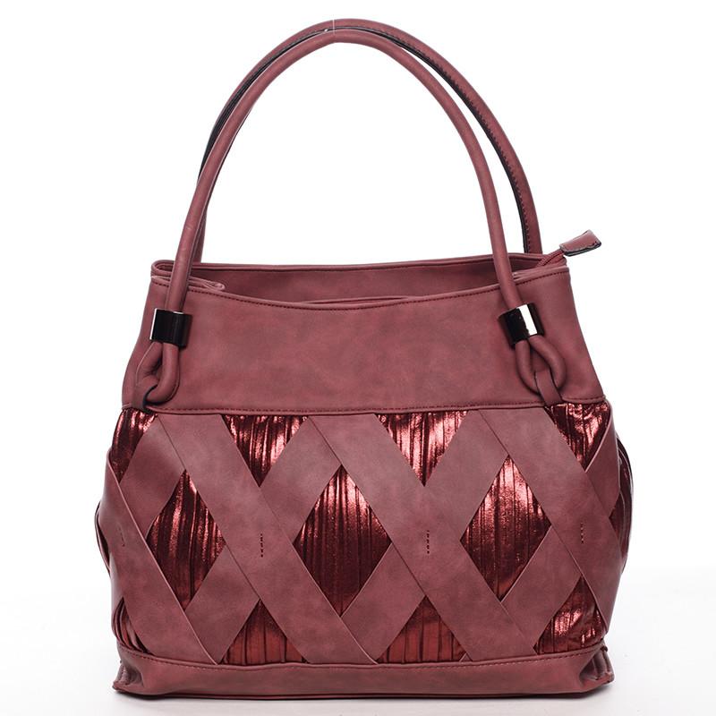 Jedinečná tmavo červená dámska kabelka - MARIA C Elani - Kabea.cz a381618b0bf