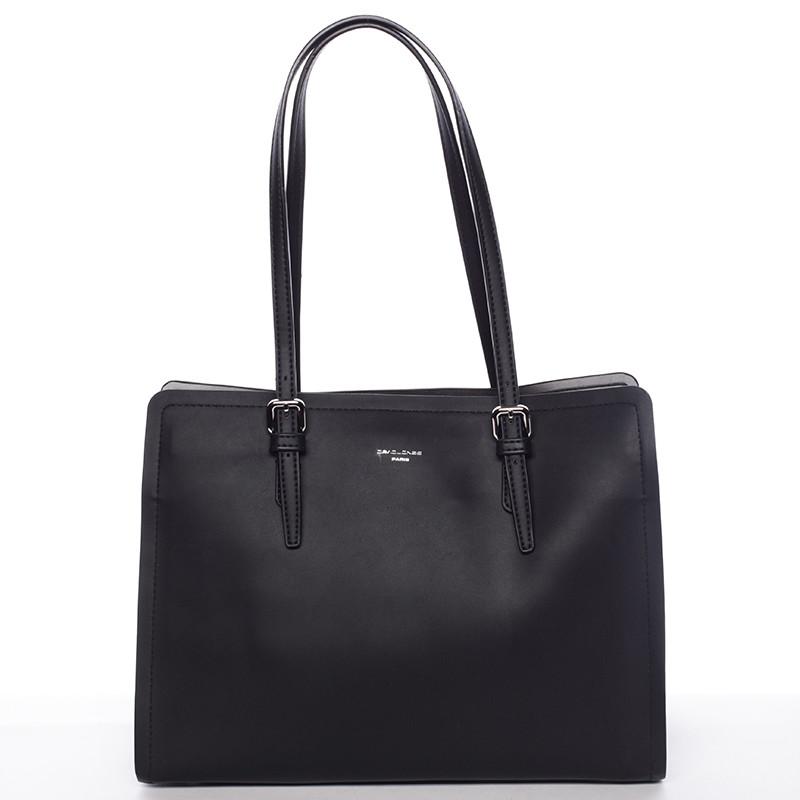 Elegantná čierna kabelka cez plece - David Jones Rayna - Kabea.cz 08b0b565f59