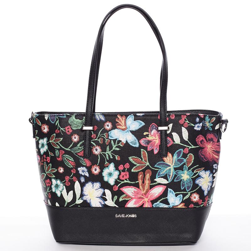 516f750b8 Čierna elegantná kvetinová kabelka - David Jones Blomst - Kabea.cz